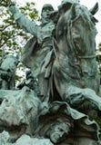 内战纪念品雕象 免版税图库摄影