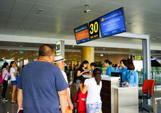 内排国际机场在河内,越南 库存照片