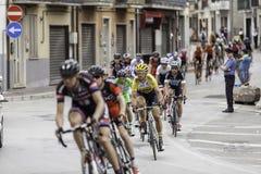贝内文托,第17可以2015年-环意自行车赛2015年追随者小组 免版税库存照片