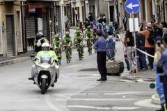 贝内文托,第17可以2015年-环意自行车赛2015年maglia罗莎领导contador 库存照片