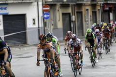 贝内文托,第17可以2015年-自行车种族的环意自行车赛2015年骑自行车者 免版税库存图片