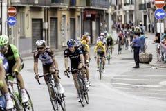 贝内文托,第17可以2015年-自行车种族的环意自行车赛2015年骑自行车者 库存照片