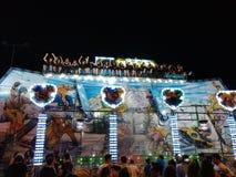 贝内文托-在活动中雪板运动的carusel 库存照片