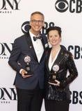 内文斯坦伯格&在2019年托尼奖的杰西卡帕兹胜利 免版税图库摄影