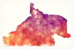 内格罗河省阿根廷的水彩地图在whi前面的 向量例证