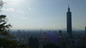 从内湖区的台北,台湾都市风景 股票录像