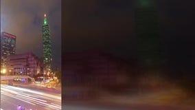 从内湖区的台北,台湾都市风景 股票视频
