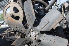 内燃、修理汽车和农机柴油引擎  免版税库存图片