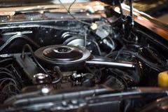 内燃机的金属背景 库存照片
