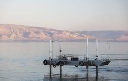 内盖夫加利利海运 提比里亚 降低内盖夫加利利 以色列 图库摄影