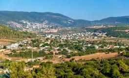 内盖夫加利利的全景在拿撒勒-以色列附近的 图库摄影