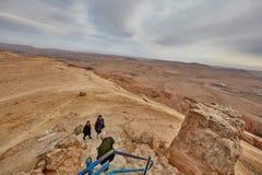内盖夫山沙漠视图 免版税库存照片