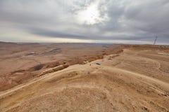 内盖夫山沙漠视图 免版税图库摄影