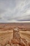 内盖夫山沙漠视图 库存照片
