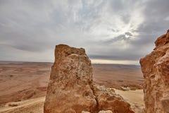 内盖夫山沙漠视图 免版税库存图片