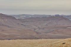内盖夫山沙漠视图 库存图片