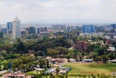 内罗毕肯尼亚鸟瞰图  图库摄影
