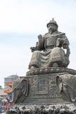 内蒙古,中国- 2015年8月13日:俺答汗(Alata雕象  图库摄影