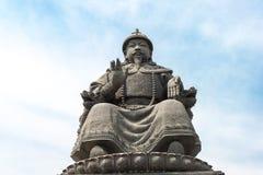 内蒙古,中国- 2015年8月13日:俺答汗(Alata雕象  免版税库存图片