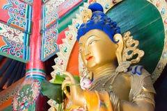 内蒙古,中国- 2015年8月13日:在五塔的Budda雕象 图库摄影
