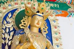 内蒙古,中国- 2015年8月13日:在五塔的Budda雕象 免版税库存照片