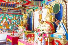 内蒙古,中国- 2015年8月13日:在五Pagod的Budda雕象 库存照片
