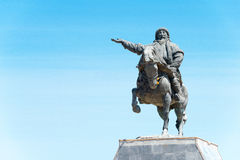 内蒙古,中国- 2015年8月10日:在Kubla的忽必烈雕象 库存照片