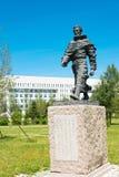 内蒙古,中国- 2015年8月10日:在Kublai的马可・波罗雕象 免版税库存图片