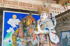 内蒙古,中国- 2015年8月14日:在Meidai潜逃的Budda雕象 库存照片