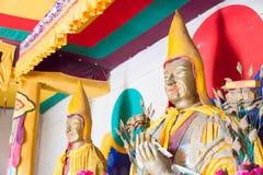 内蒙古,中国- 2015年8月14日:在Meidai潜逃的Budda雕象 免版税库存图片