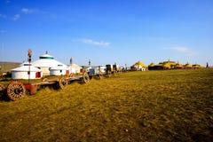 内蒙古yurt 图库摄影