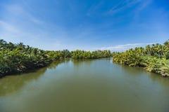 内贡博的,斯里兰卡盐水湖 免版税库存图片