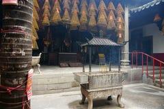 内部。 Kun Iam寺庙,澳门。 免版税库存照片
