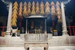 内部。 Kun Iam寺庙,澳门。 免版税库存图片