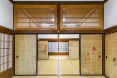 内部一传统ryokan在日本 库存照片