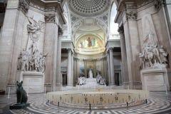 内部万神殿巴黎 库存照片