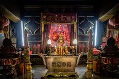 内部中国寺庙在印度尼西亚 免版税图库摄影
