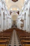 内部中央寺院,诺托,西西里岛,意大利 免版税库存图片