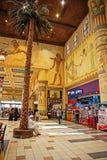 内部伊本・白图泰购物中心商店。每个大厅在s装饰 免版税库存照片