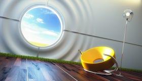 内部休息室现代空间 向量例证