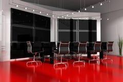 内部会议现代空间 免版税图库摄影