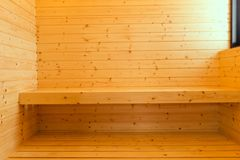 内部传统豪华空的蒸汽浴室  库存图片