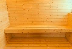 内部传统豪华空的蒸汽浴室  免版税库存图片