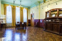 内部其中一个翼果博物馆Kurlina ` s的大厅 免版税库存图片