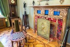 内部其中一个翼果博物馆Kurlina ` s的大厅 库存照片