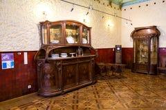内部其中一个翼果博物馆Kurlina ` s的大厅 免版税库存照片