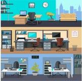 内部办公室室 design illustration space 免版税库存图片