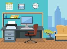 内部办公室室 design illustration space 免版税图库摄影