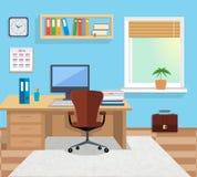 内部办公室室 design illustration space 免版税库存照片