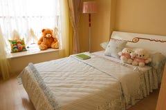 内部卧室的子项 库存照片